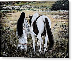 Spiritual Sunset Stroll Acrylic Print by Andrew Read