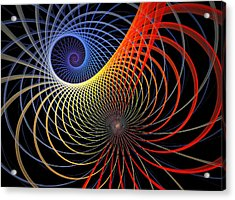 Spirograph Acrylic Print by Amanda Moore