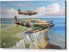 Spitfire And Hurricane 1940 Acrylic Print