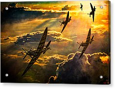 Spitfire Attack Acrylic Print