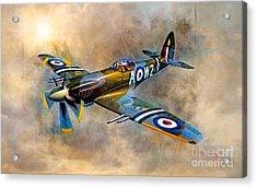 Spitfire Dawn Flight Acrylic Print