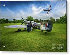 Spitfire Parade Acrylic Print by Adrian Evans
