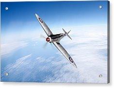Spitfire Pr Xix Ps852 Acrylic Print by Gary Eason