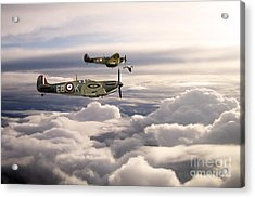 Spitfires On Patrol Acrylic Print by J Biggadike