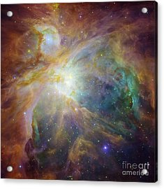 Spitzer And Hubble Create Colorful Masterpiece Acrylic Print