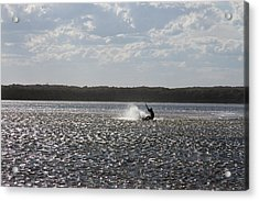 Acrylic Print featuring the photograph Splash At Lake Wollumboola by Miroslava Jurcik