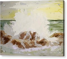 Acrylic Print featuring the painting Splash by Carol Grimes