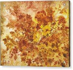 Splash Of Autumn Color Acrylic Print by Lois Mountz