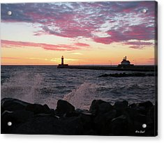 Splash Of Color Acrylic Print by Alison Gimpel