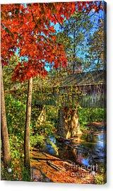 Splash Of Color Concord Covered Bridge Art Acrylic Print