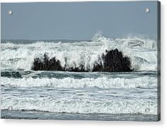 Acrylic Print featuring the photograph Splash by Peggy Hughes