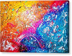 Acrylic Print featuring the painting Splash by Piety Dsilva