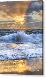 Splash Sunrise II Acrylic Print by Debra and Dave Vanderlaan