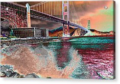 Splashing Colors Acrylic Print