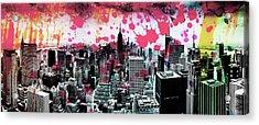 Splatter Pop Acrylic Print