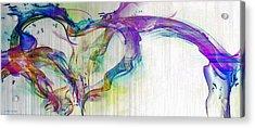 Splattered Paint Heart Acrylic Print