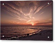 Splendid Florida Gulf Coast Sunset  -  Sunsetgulfcoastfl167514 Acrylic Print