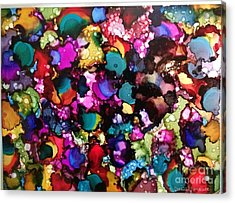 Acrylic Print featuring the painting Splendor by Denise Tomasura