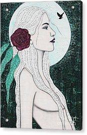 Acrylic Print featuring the mixed media Splendour by Natalie Briney