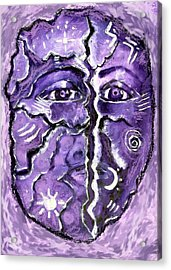Acrylic Print featuring the painting Split A Mask by Shelley Bain
