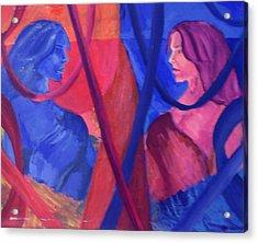 Split Personality Acrylic Print by Vykky Gamble