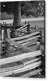 Acrylic Print featuring the photograph Split Rail Fence by Eric Liller