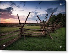 Acrylic Print featuring the photograph Split Rail Fence by Ryan Wyckoff