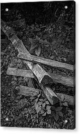 Split Rail Acrylic Print by Joseph Smith