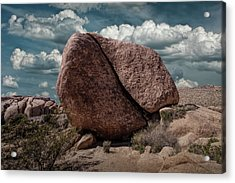 Acrylic Print featuring the photograph Split Rock In Joshua Tree National Park by Randall Nyhof