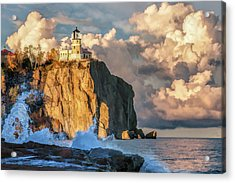 Acrylic Print featuring the painting Split Rock Lighthouse by Christopher Arndt
