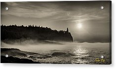 Split Rock Lighthouse Emerging Fog Acrylic Print