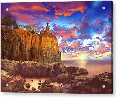 Split Rock Lighthouse Acrylic Print by Bekim Art