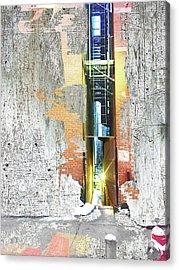 Acrylic Print featuring the mixed media Split by Tony Rubino