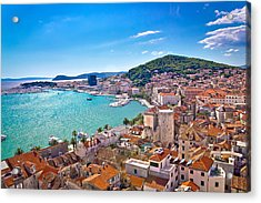 Split Waterfront And Marjan Hill View Acrylic Print