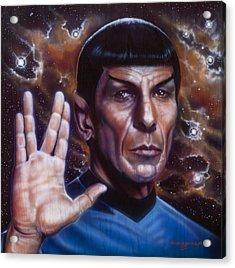 Spock Acrylic Print by Tim  Scoggins