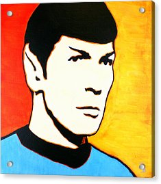 Spock Vulcan Star Trek Pop Art Acrylic Print
