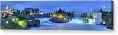Spokane Falls Acrylic Print by Michael Gass