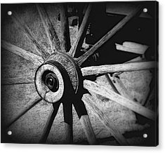 Spoked Wheel Acrylic Print by Perry Webster