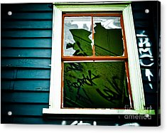 Acrylic Print featuring the photograph Spooky Abandoned House by Yurix Sardinelly