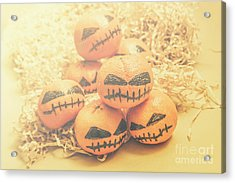 Spooky Halloween Oranges Acrylic Print by Jorgo Photography - Wall Art Gallery