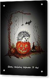 Spooky Hedgehog Halloween Acrylic Print