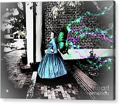 Spooky Historic Butterfly Dahlonega  Acrylic Print
