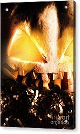 Spooky Jack-o-lantern In Darkness Acrylic Print by Jorgo Photography - Wall Art Gallery