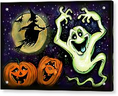 Acrylic Print featuring the painting Spooky by Kevin Middleton