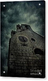 Spooky Medieval Church Acrylic Print by Mythja Photography