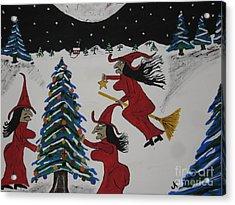 Spooky Merry Christmas Acrylic Print