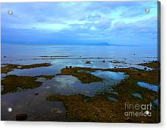 Spooky Morning Tide Receded From Beach Acrylic Print