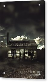 Spooky Old Abandoned House In Dark Forest Acrylic Print by Jorgo Photography - Wall Art Gallery