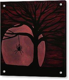 Spooky Spider Tree Acrylic Print