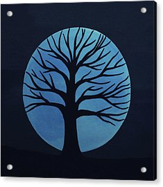 Spooky Tree Blue Acrylic Print